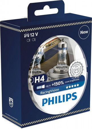 Ampoules H4 Philips Racing Vision +150