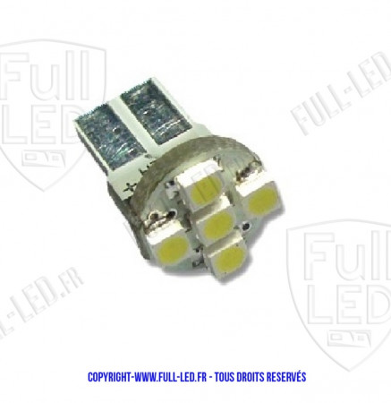 Ampoule Led W5W BLEU - Front 5