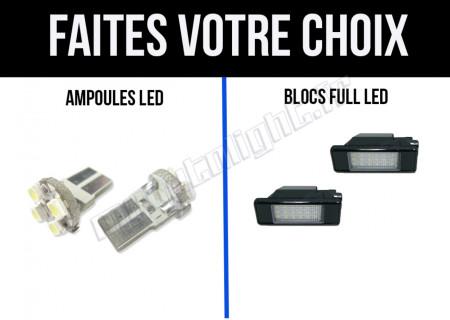 Eclairage de plaque à Led  pour Peugeot 307 phase 1