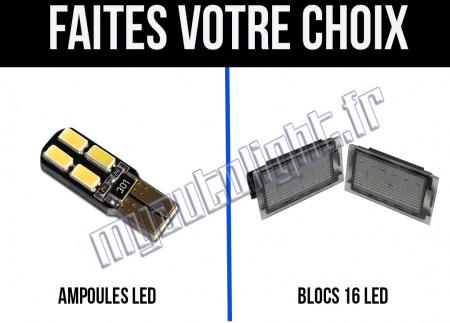 Eclairage de plaque à Led  pour Renault Mégane 2
