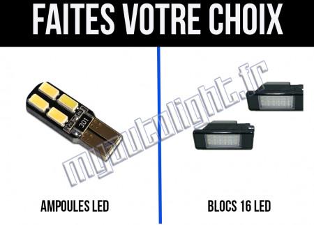 Eclairage de plaque à Led  pour Peugeot 406