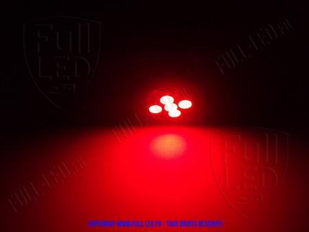 Ampoule Led W5W ROUGE - Front 5