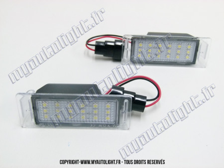Modules Full led plaque immatriculation OPEL Mokka Chevrolet Camaro