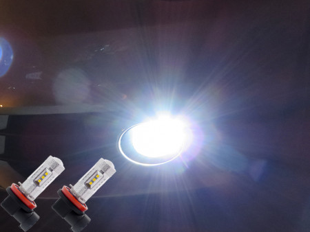 Pack Ampoules Anti Brouillards LED pour Volkswagen Polo 6N1