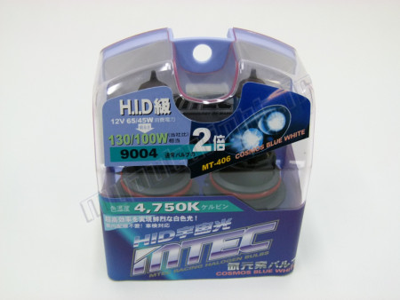 Pack 2 ampoules HB1/9004 65W Effet Xénon - Mtec - Cosmos Blue