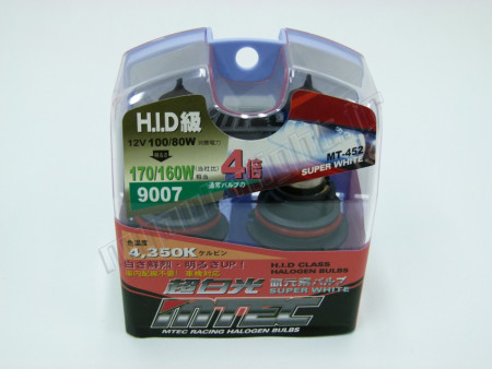 Pack 2 ampoules HB5/9007 Effet Xénon - Mtec - Super White High Performance 100W