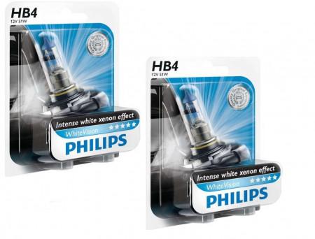Ampoules HB4 Philips White Vision