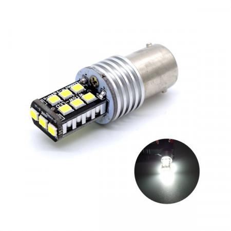 Led P21W  BA15S - 4 LED - ALU - Blanc Pur Special feux de recul