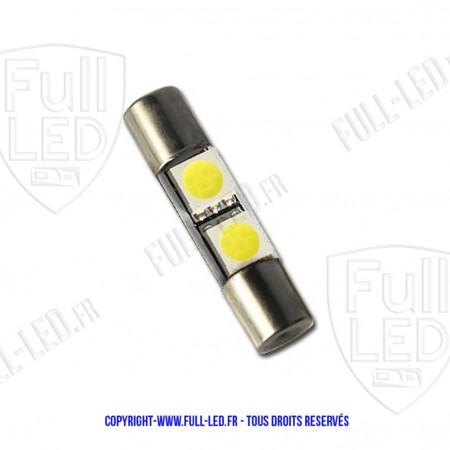 Ampoule Led BLEU - Navette type Fusible 28mm