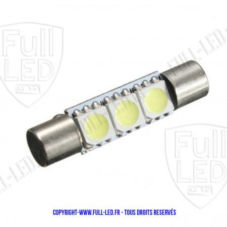 Ampoule Led BLEU - Navette type Fusible 31mm
