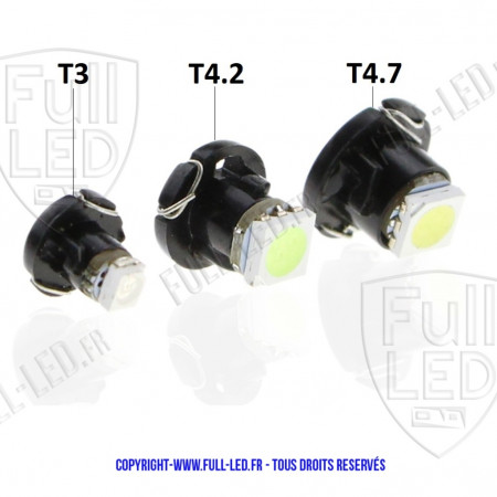 Ampoule Led sur support T3-T4.2-T4.7