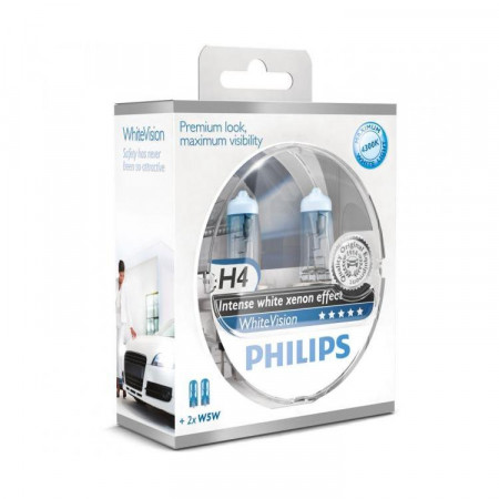 Ampoules H4 Philips White Vision