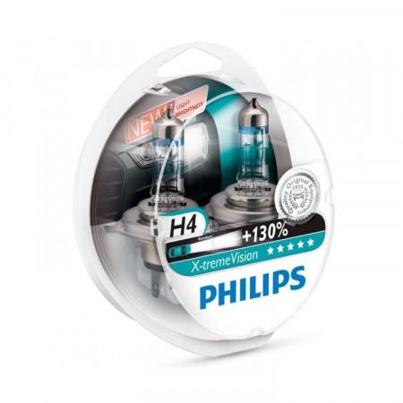 Ampoules H4 Philips X-treme Vision +130