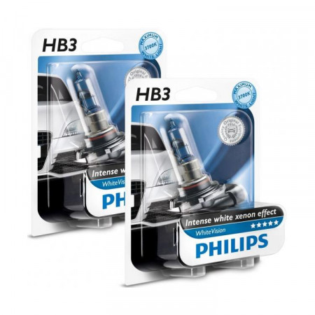 Ampoules HB3 Philips White Vision