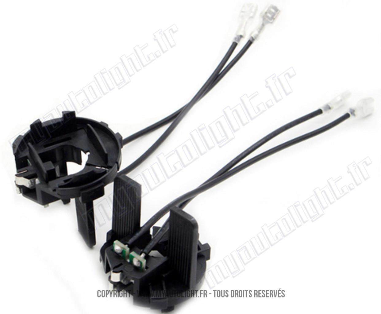 adaptateurs portes ampoules x non h7 hid phares voiture. Black Bedroom Furniture Sets. Home Design Ideas