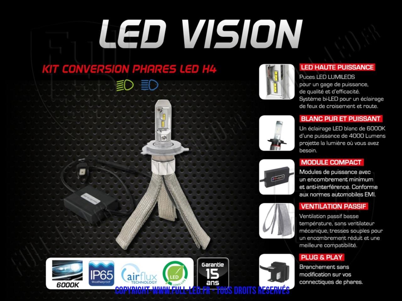 Kit Ampoules Led Vision H4