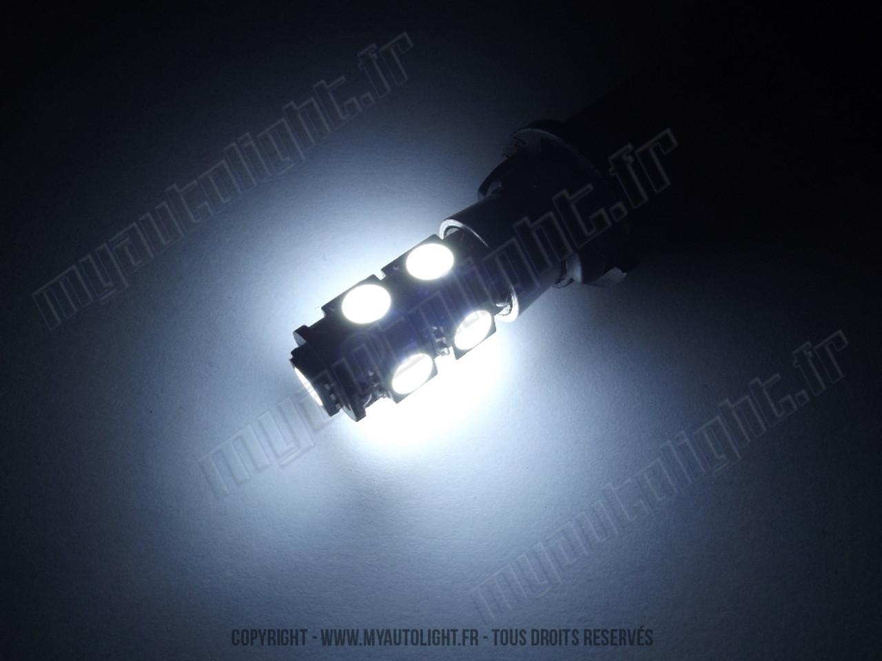 ampoule led voiture w5w feux de position veilleuses xtrem 9 blanc led canbus anti erreur odb. Black Bedroom Furniture Sets. Home Design Ideas