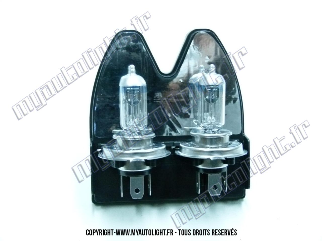 ampoules puissantes h4 powervision 50 pour phares auto voiture moto. Black Bedroom Furniture Sets. Home Design Ideas