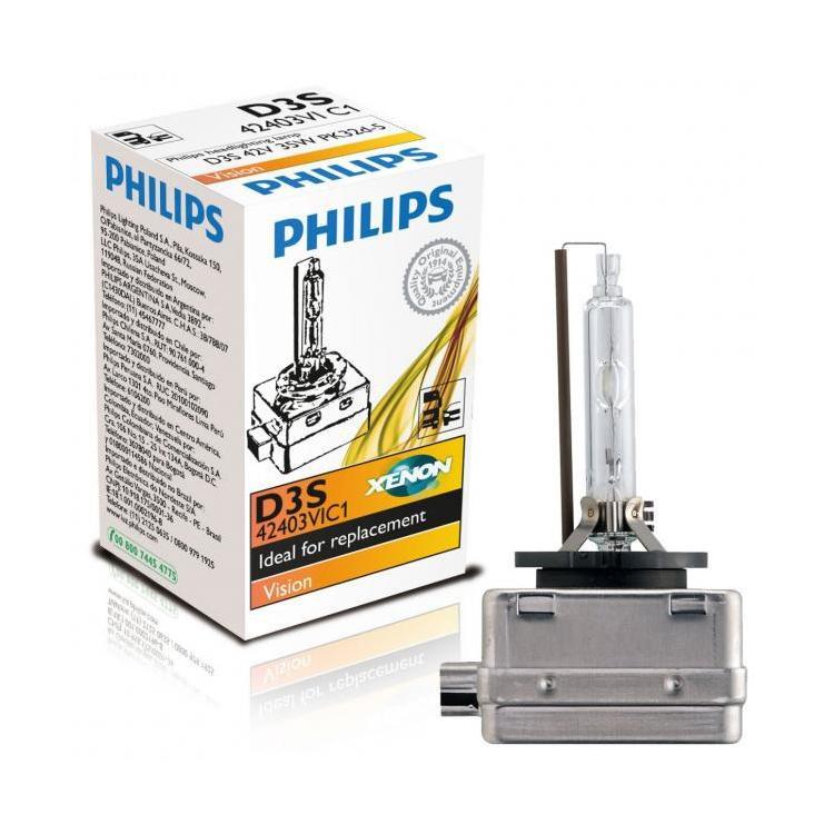 ampoules de phares philips vision d3s pour phares oem avec lampes x non. Black Bedroom Furniture Sets. Home Design Ideas
