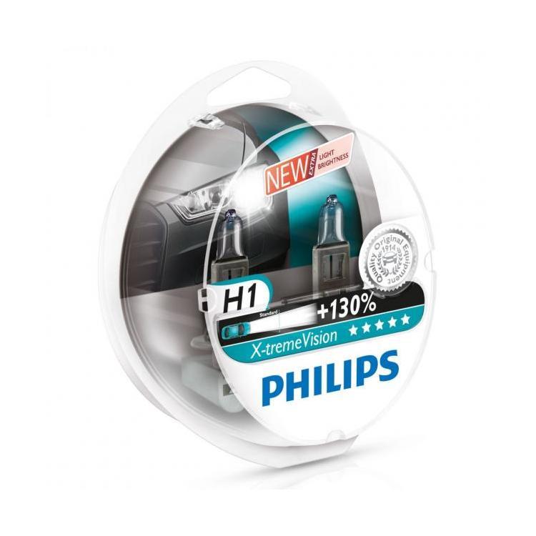 ampoules h1 philips x treme vision pour feux phares auto voiture moto. Black Bedroom Furniture Sets. Home Design Ideas