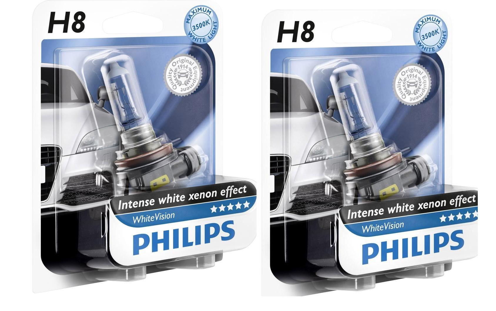 Voiture Feux Blanc Moto Vision Xénon H8 Philips White Ampoule Phares OTXZiuPk