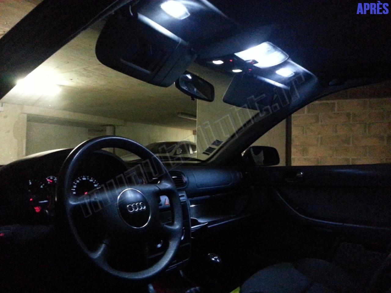 pack full led int rieur audi a2 a2 audi pack led auto. Black Bedroom Furniture Sets. Home Design Ideas