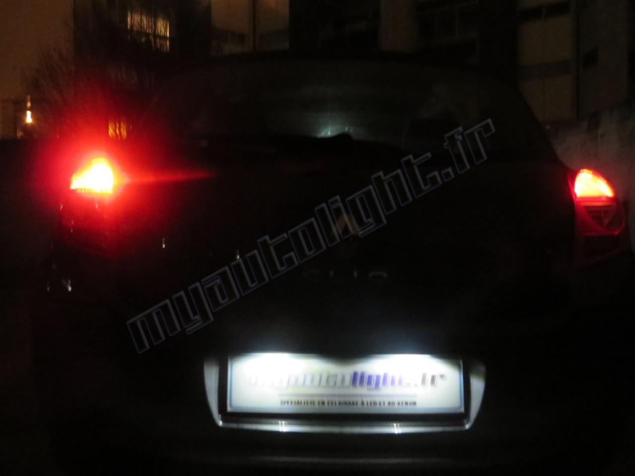 eclairage de plaque pour renault 4 Eclairage de plaque à Led pour Renault Clio 4. Qté :