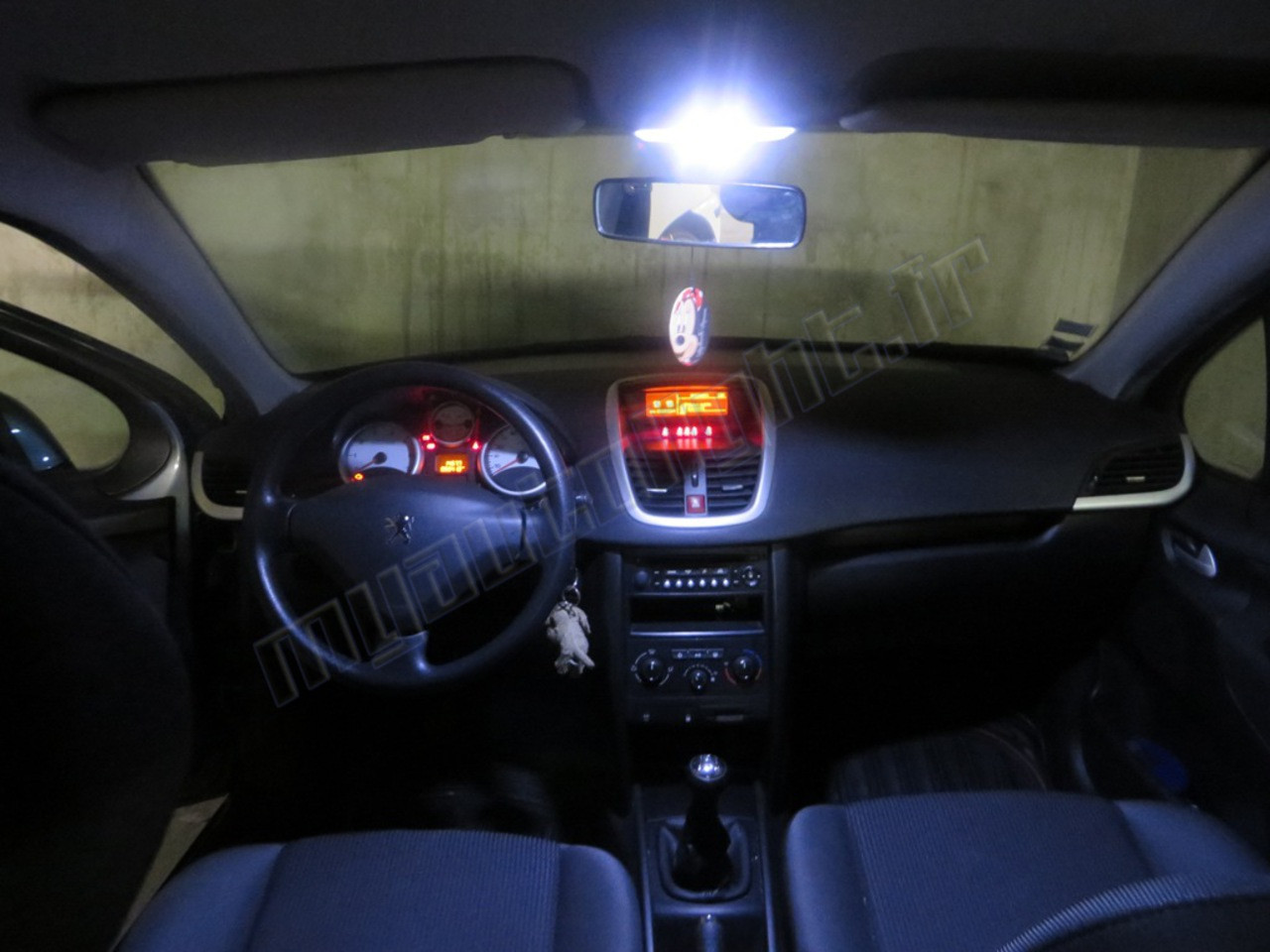 Pack full led int rieur peugeot 207 for Interieur 78