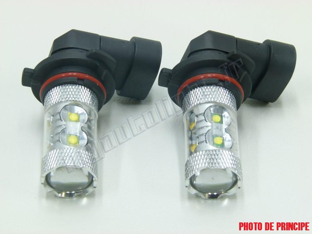 pack ampoules anti brouillards led pour peugeot 307 phase 2. Black Bedroom Furniture Sets. Home Design Ideas