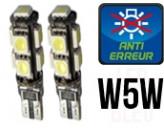 Ampoules Led W5W - Feux de Position-Veilleuses - Xtrem 9 - Anti-erreur ODB