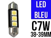 Ampoule Led BLEU - Navette C7W