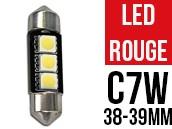 Led Navette 39mm C5W - 3 LED - Anti Erreur - Rouge