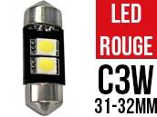 Ampoule Led ROUGE - Navette C3W