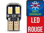 Ampoule Led W5W ROUGE - Dual Face 4 - Anti-erreur ODB