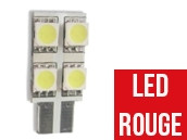 Ampoule Led W5W ROUGE - One Face 4