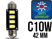 Ampoule Led Navette C10W - Anti-Erreur ODB