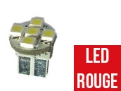 Ampoule Led W5W ROUGE - Front 5