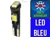Ampoule Led W5W BLEU - Jaguard 3 - Anti-erreur ODB
