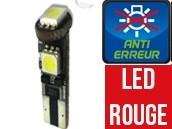 Ampoule Led W5W ROUGE - Jaguard 3 - Anti-erreur ODB