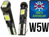 Ampoules Led W5W - Feux de Position-Veilleuses - Jaguard 3 - Anti-erreur ODB