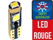 Ampoule Led T5 ROUGE - W1.2W W2.3W - Anti Erreur ODB