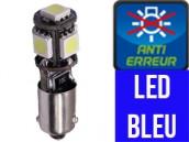 Led T4W BA9S Xtrem5 LED  - Bleu