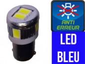 Ampoule Led T4W - Silver 6 Bleu- Anti Erreur