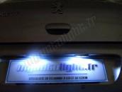 Eclairage de plaque à Led  pour Peugeot 307 phase 2