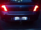 Eclairage de plaque à Led  pour Peugeot 407
