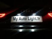 Eclairage de plaque à Led pour Dacia Logan