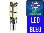 Ampoule Led W5W BLEU - Xtrem 9 - Anti-erreur ODB