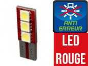 Ampoule Led W5W ROUGE - One Face 3 - Anti-erreur ODB