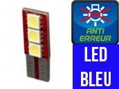 Ampoule Led W5W BLEU - One Face 3 - Anti-erreur ODB