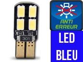 Ampoule Led W5W BLEU - Dual Face 8 - Anti-erreur ODB